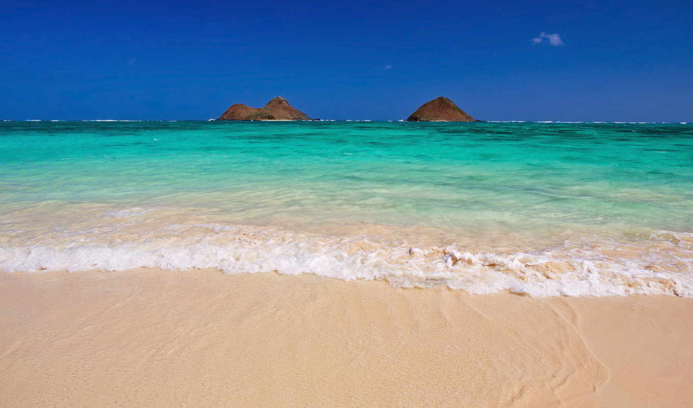 острова, гавайские, гавайи, сша, океан, lanikai, island, тихий,