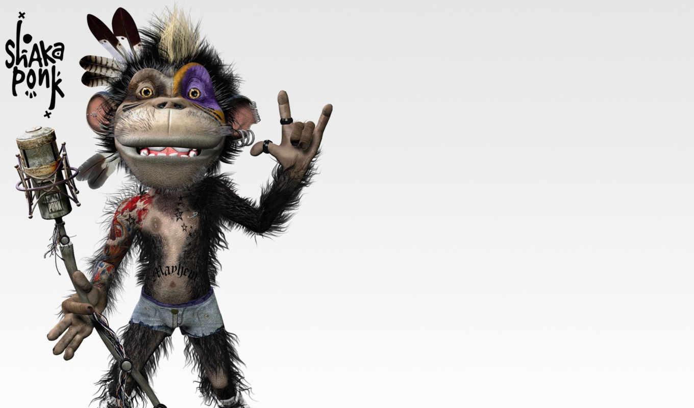 макияж, музыка, шака, понк, star, виртуальная, обезьяна, попа, funny, goz, перышко, indian,