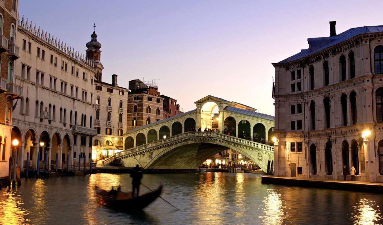 rialto, мост, венеции, ди, ponte, country, путешествия, canal, пляжи, italy,