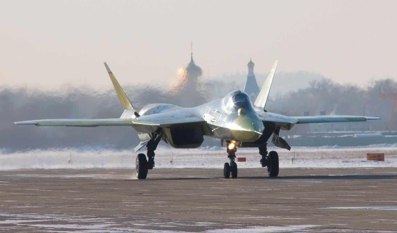 стелс, stealthy, су, истребитель, фа, пак, взлёт, бомбардировщика, пятого, самолёт, поколения, sukhoi, картинка, смотрите,