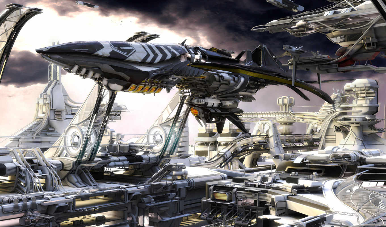 будущее, небо, корабль, космо, космические, корабли, рисунок,