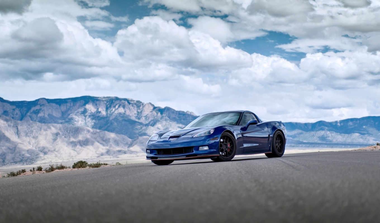 corvette, blue,