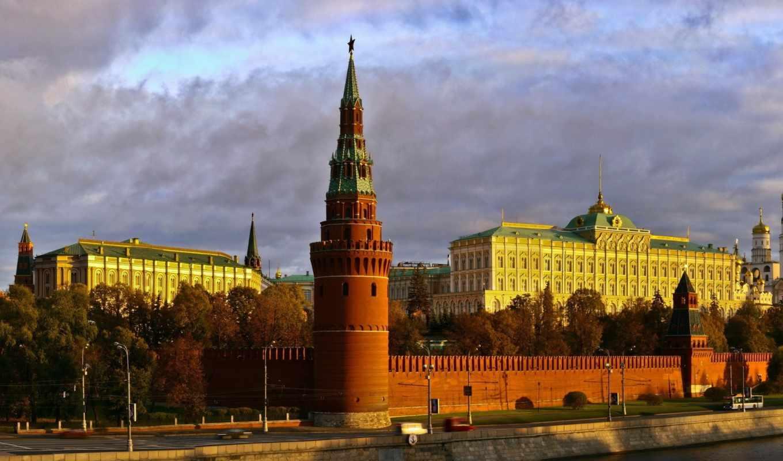 москва, взгляд, города, россия, кремль,