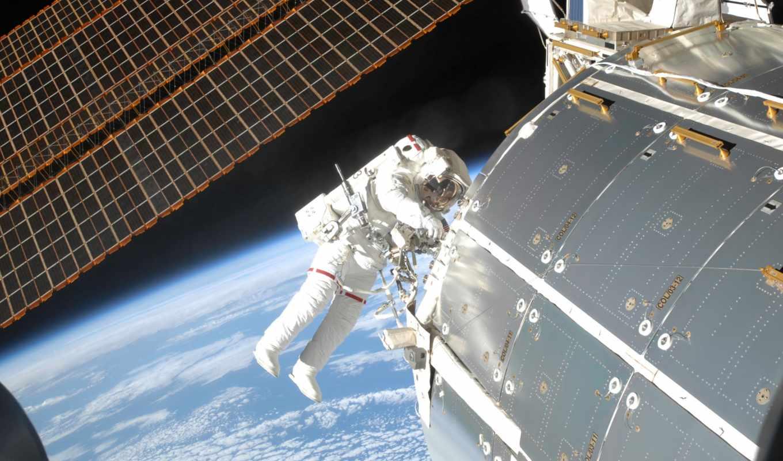 космос, космонавт, мкс, открыть, land, nasa,
