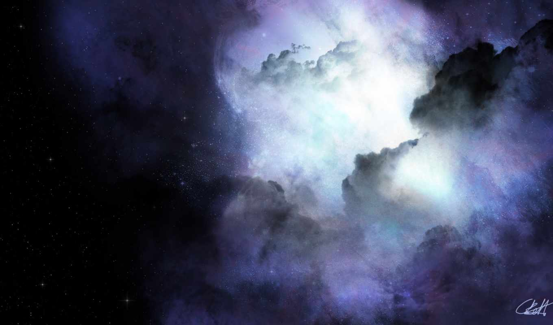 космос, туманность, свечение, звезды, картинка, картинку,