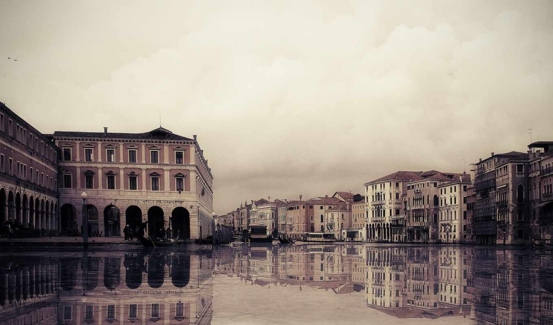 venice, italy, канал, гондолы, water, здания,