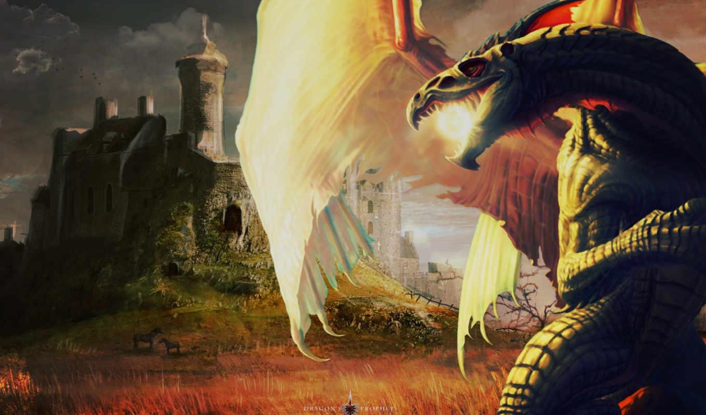 драконы, заставки, дракон, янв,