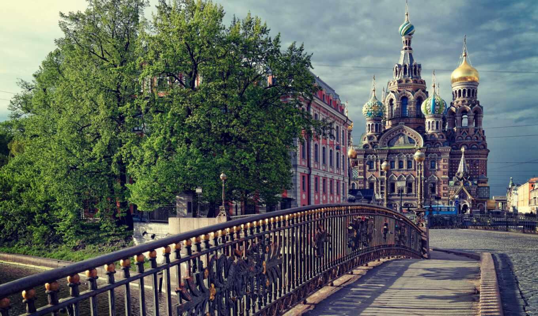 санкт, петербург, россия, peter, взгляд, храм,