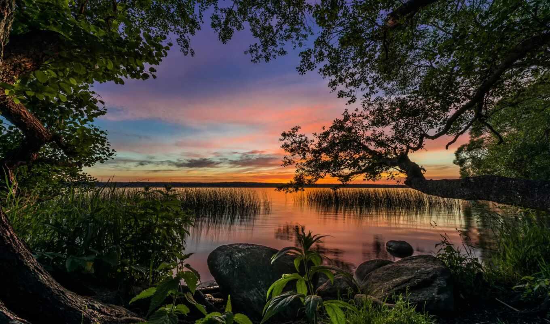красивые, пейзажи -, природы, поле, поля, reki, горы,