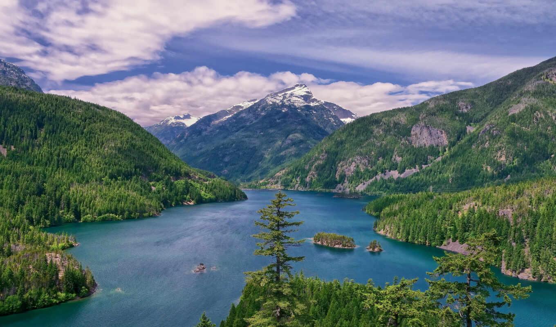 природа, мира, природы, озеро, красивая, разных, горы,