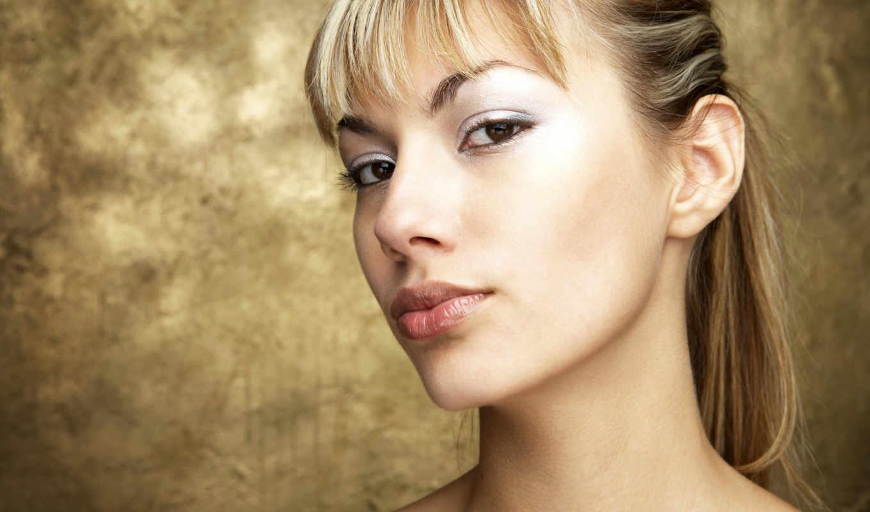 blonde, взгляд, симпатичная, лицо, губы, шея, девушка, devushki,