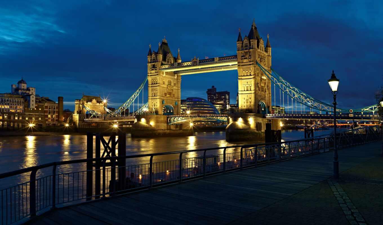мост, london, башня, тауэрский, thames, англия, великобритания