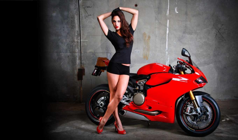 ducatus, мотоцикл, девушка, panigale, advertise, парень