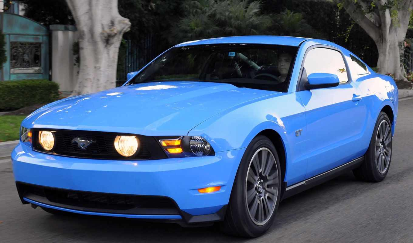 ford, mustang, front, blue, wallpapers, photo, angle, grabber, picture,