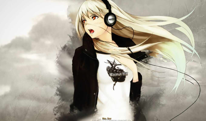 anime, headphones, beat, maximum, girl, девушка, wallpaper, hd, music, wallpapers, чувства, музыка,