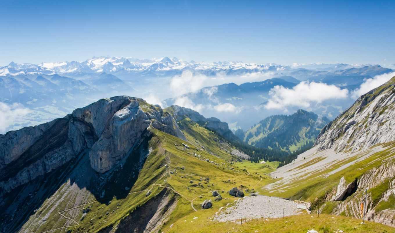 горы, кавказские, priroda,