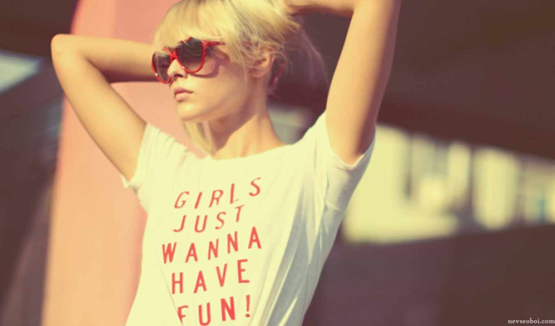 девушка, очки, blonde, картинка,