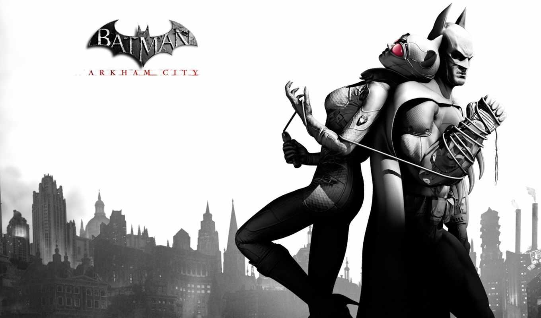 batman, arkham, город, catwoman, objective,