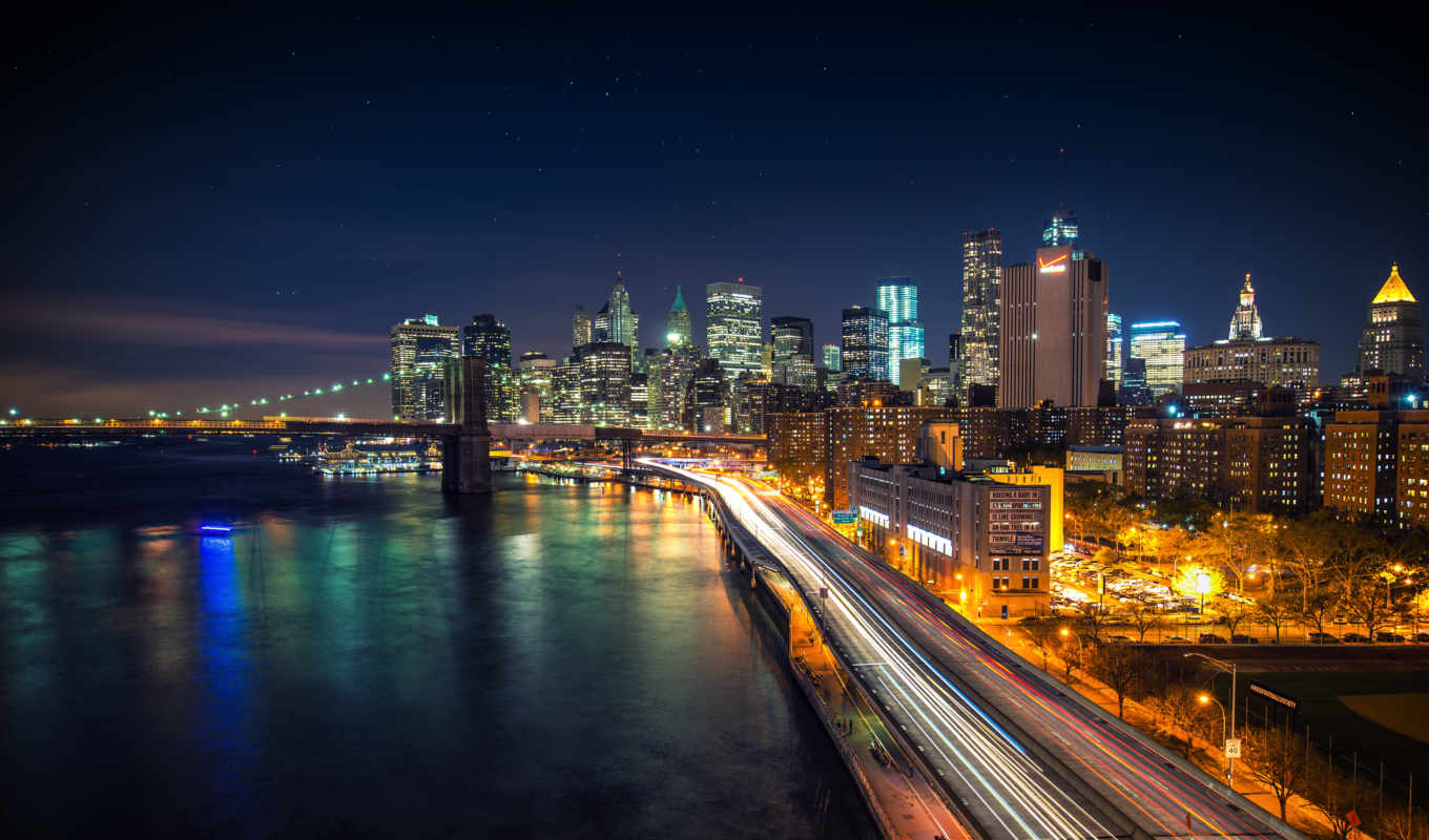 ночь, manhattan, travel,