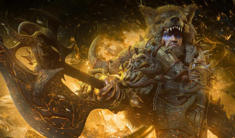 воин, фантастика, мужской, shadow, медведь, демон, мужчина, barbarian, raaka, характер,