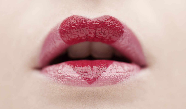 сердце, помада, губы, сердечко, губки, lips, love, heart, wallpaper, to, makijaż, red, картинка, walentynki, hd, картинку, with,