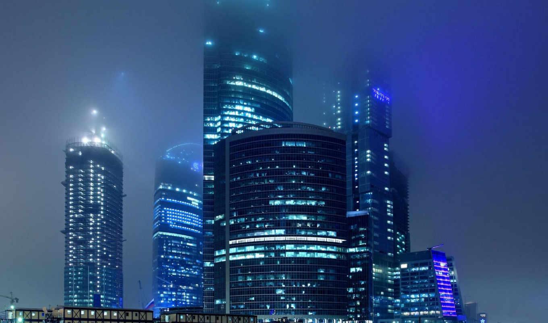 город, москва, ночь, full, огни,