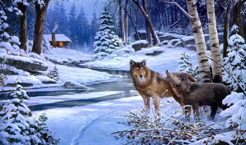 волки, коллекция, рисунки,