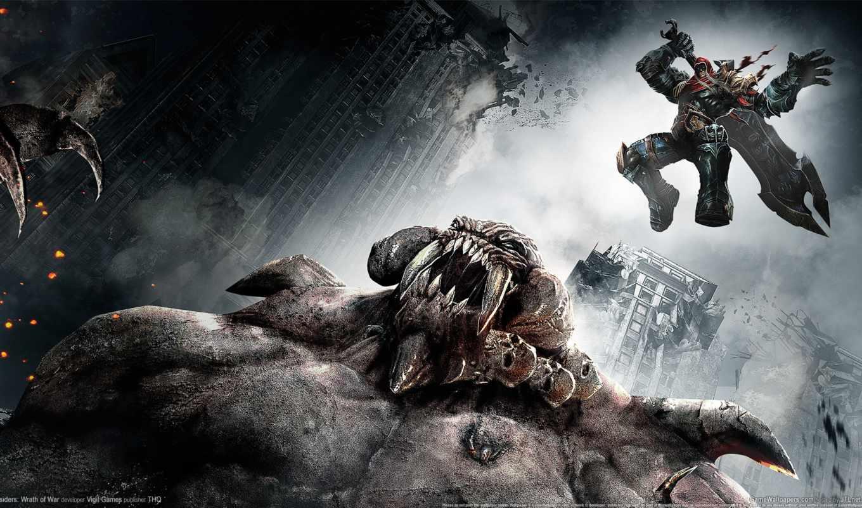 darksiders, war, игры, демон, меч, апокалипсис, wrath,