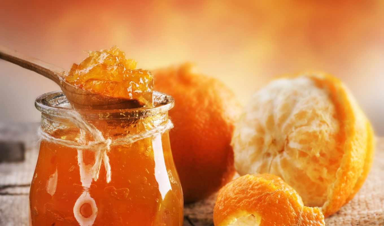 джем, апельсиновый, апельсины, варенье,
