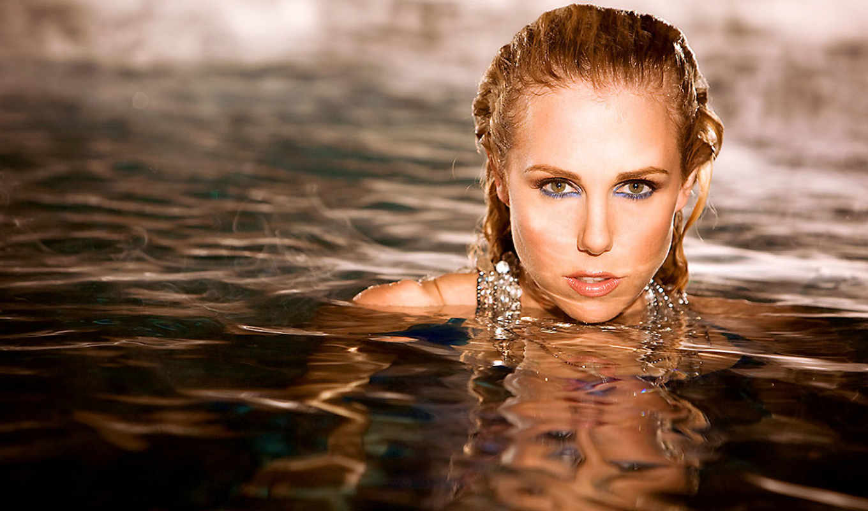 water, изображение, blonde, девушка, женщина, devushki,