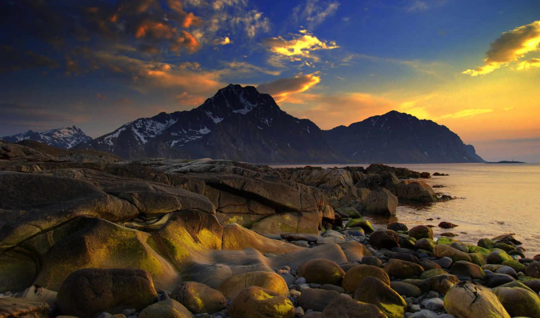 горы, природа, море, камни, ocean, landscape, берег,