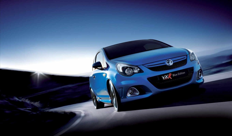 corsa, vxr, blue, vauxhall, edition, автомобиль,