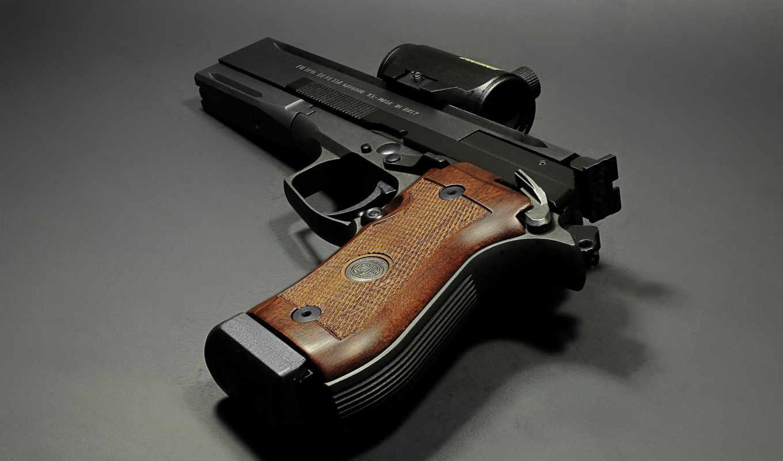 пистолет, прицел, черный,