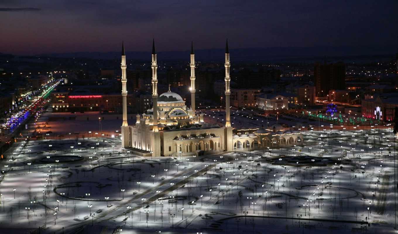 грозный, mosque, чечня, взгляд,