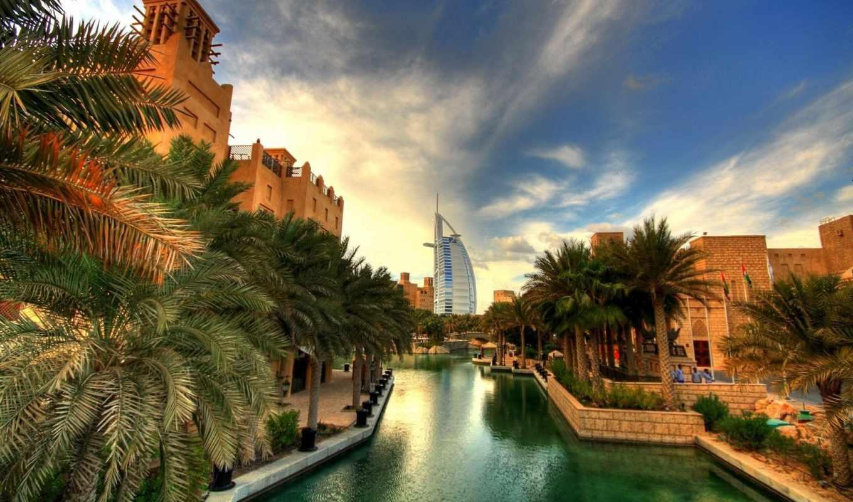 dubai, дома, канал, австралия, город, река, пальма, башня, центр, arab, burj,