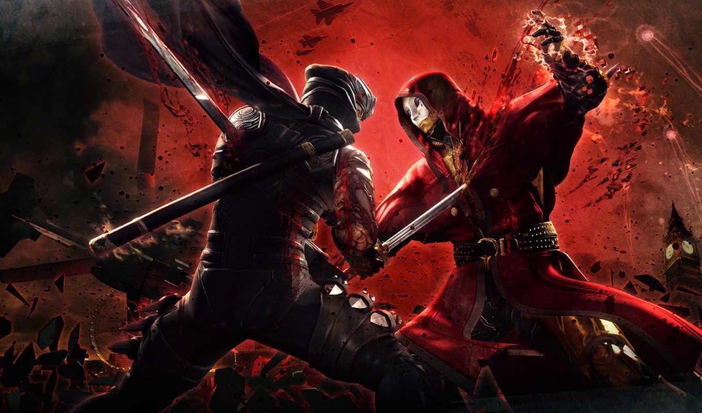 ninja, gaiden, game, бой, desktop,