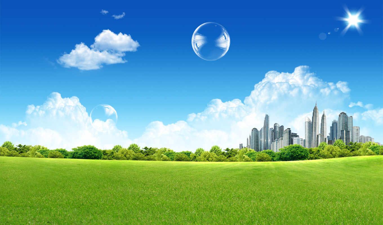 город, зелёный,