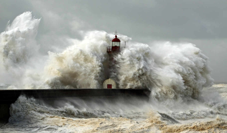 маяк, шторм, волны, стихия, океан, море, картинка, пейзаж, природа, картинку, мыши, кнопкой,