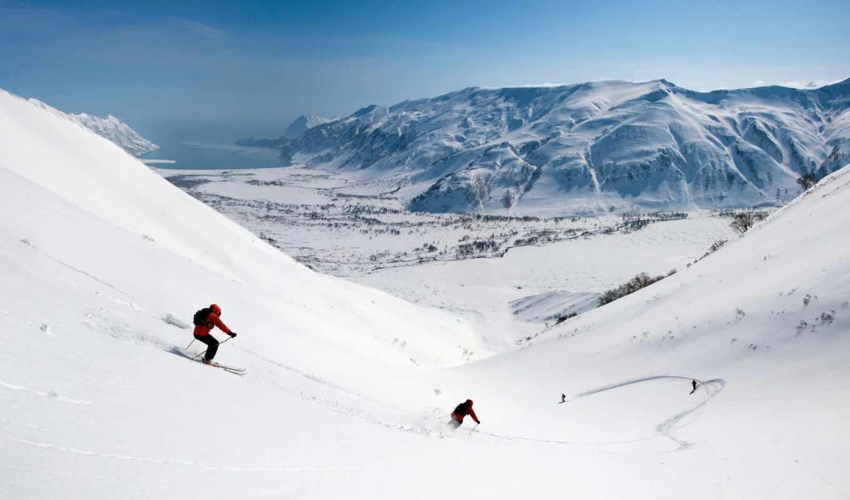 горы, снег, лыжи, спуск, долина, скорость, нояб, зима, склоны,