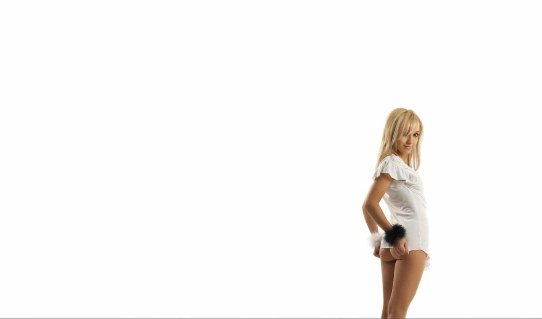 white, девушка, взгляд, blonde, ass,