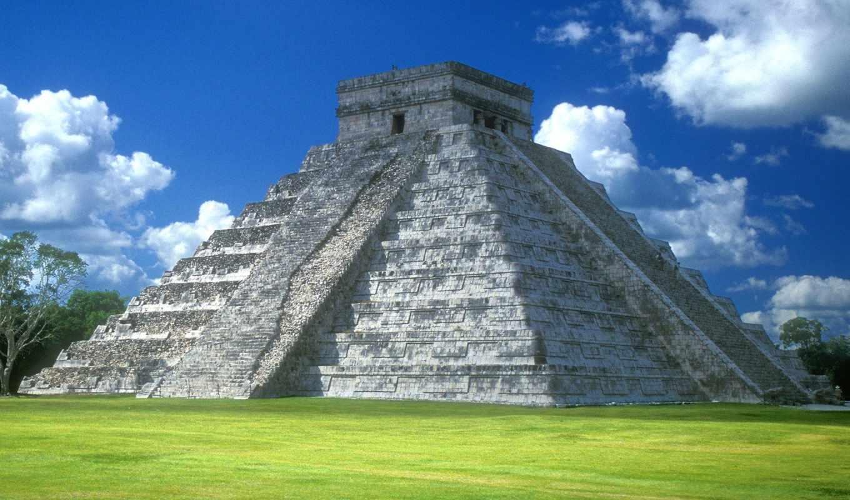 messico, пирамида, фотографий, mexico,