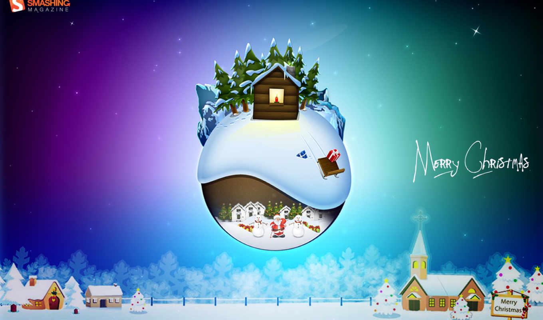 праздники, christmas, лейбл, картинкой, рождественские, год, страница, декабрь,