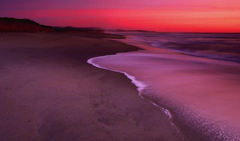 небо, пляж, blue, dunes, landscape, песок, пустыня, природа,