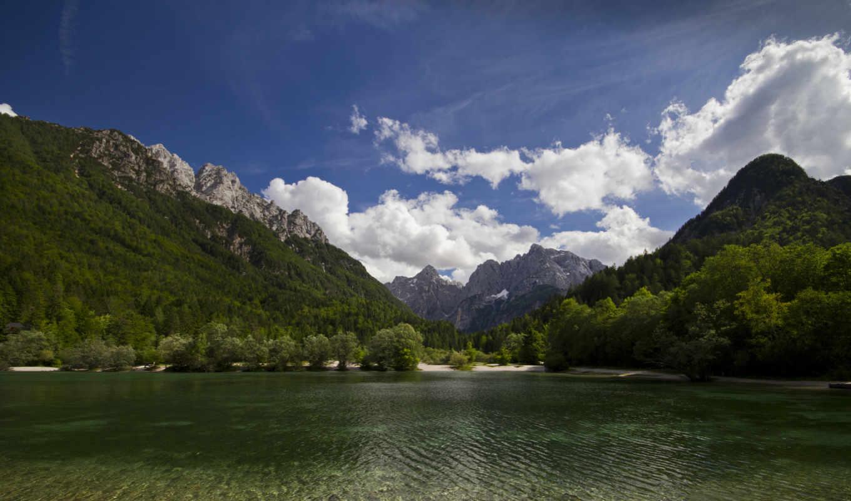 озеро, slovenia, jasna, горы, природа, пейзаж, часть, природой, прекрасной, качественные, gora, kranjska, картинка, mountain,
