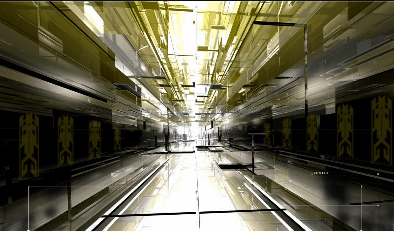 коридор, свет, desktop, графика,