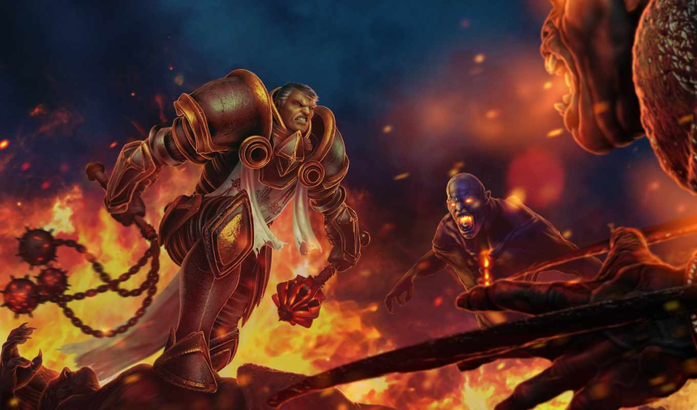 diablo, крестоносец, art, reaper, iii, изображение, souls, fantasy, девушка,