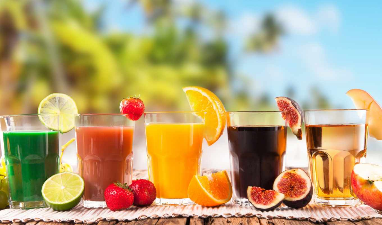 коктейль, пляж, напиток, плод, холод, еда, песок, пляже,