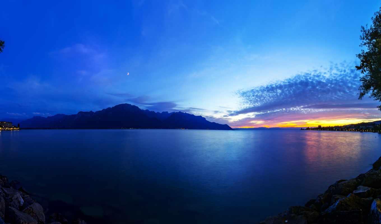 озеро, швейцария, geneva,