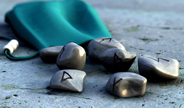 камни, чехол, знаки, руны, картинка, stone,