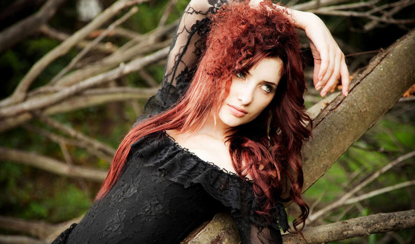 susan, coffey, redheads, nature, women, models,